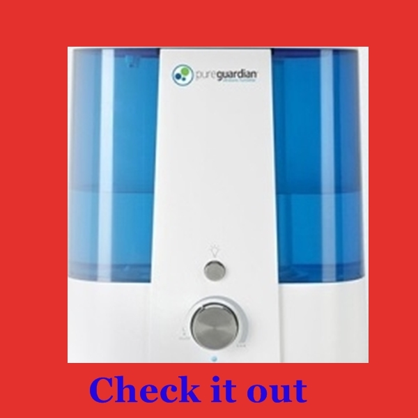 Easy cleaning humidifier PureGuardian Ultrasonic cool mist