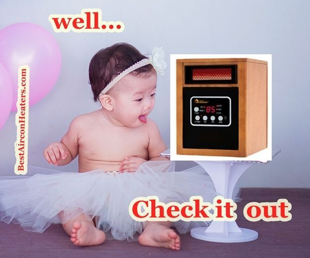Safest space heater for nursery and baby room... Dr. Infrared Heater Portable compressed 3