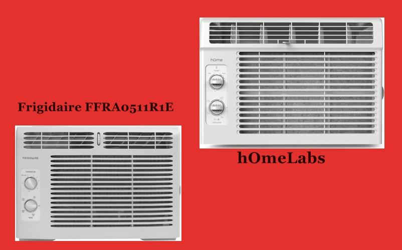 Air conditioner for small window: hOmeLabs 5000 BTU versus Frigidaire FFRA0511R1E 5000 BTU