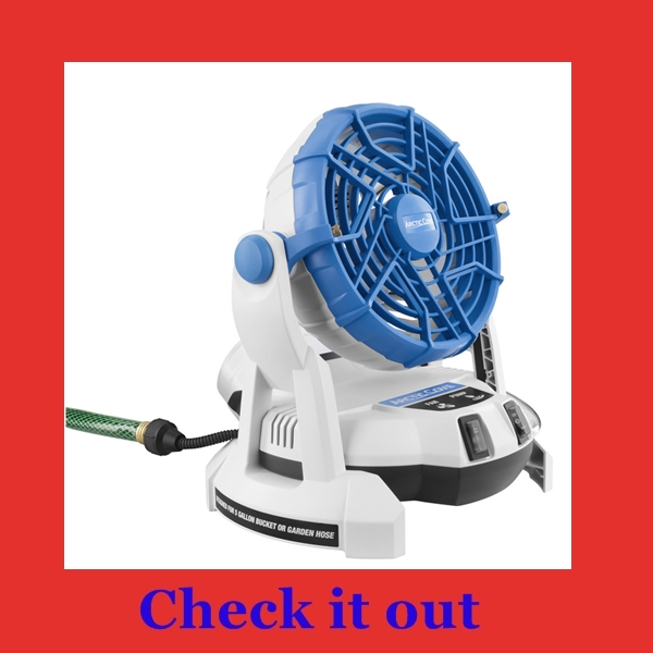 Air  conditioner  for  camping  tent.. Arctic cove bucket  top misting  fan